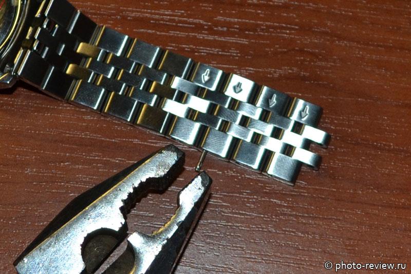 как укоротить браслет часов