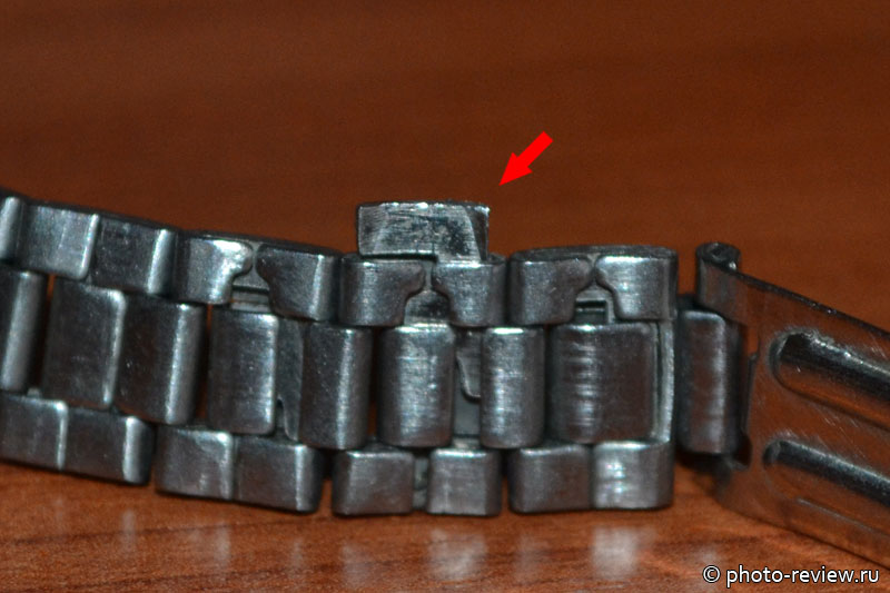 удалить лишние звенья браслета