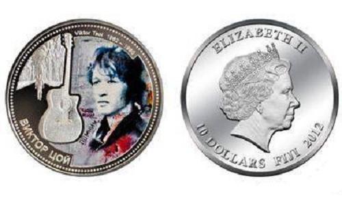 юбилейная серебряная монета Цой