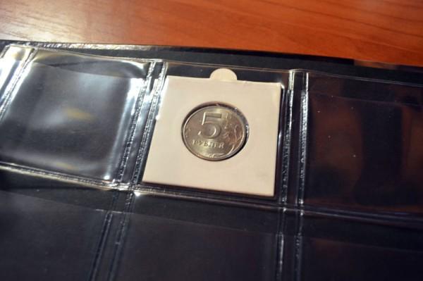 вкладыш для монет в альбоме