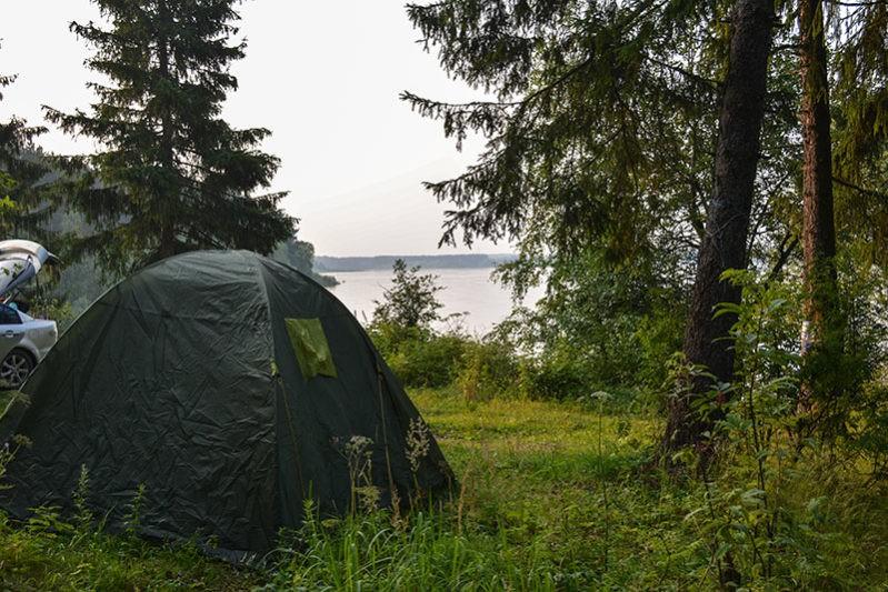 Места для отдыха с палатками на Можайском водохранилище