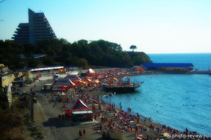 пляж малая бухта анапа