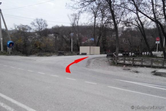 дорога к дольмену в Широкой щели