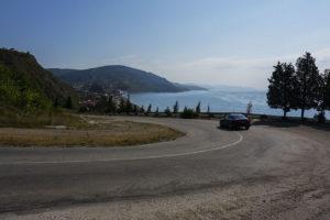 Дорога серпантин в Крыму