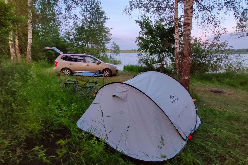 отдых с палатками на Истринском водохранилище