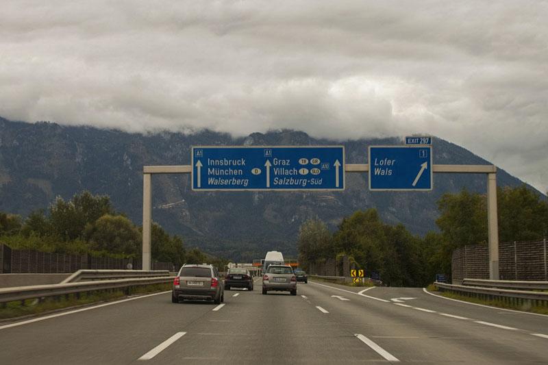 дорога в Мюнхен из аэропорта