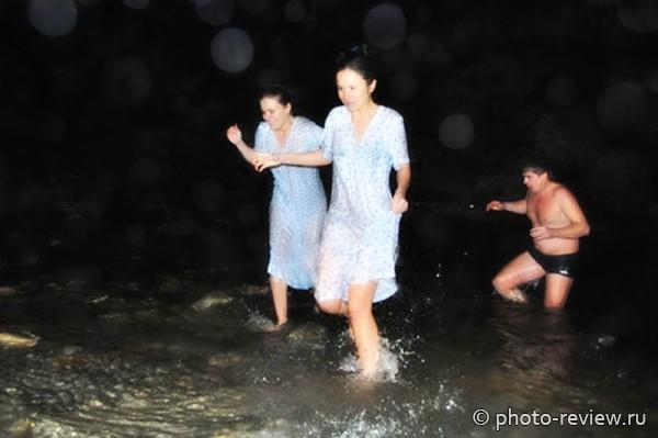Крещенские купания в Анапе 2016