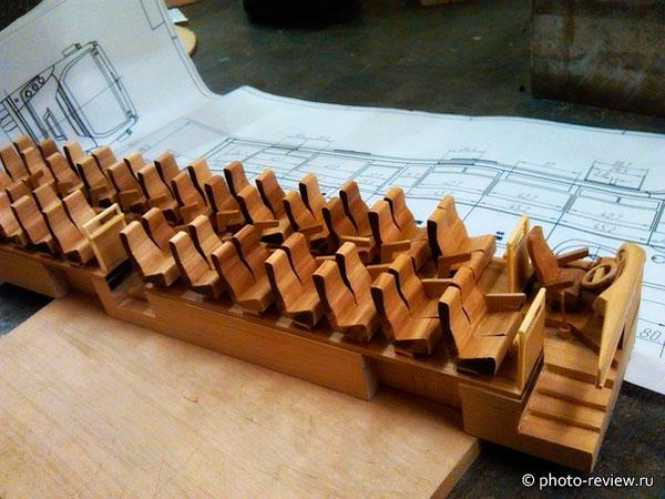 сборка модели из дерева