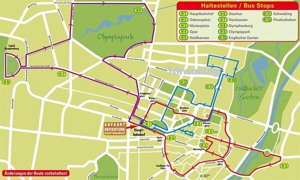 Туристические маршруты по Мюнхену