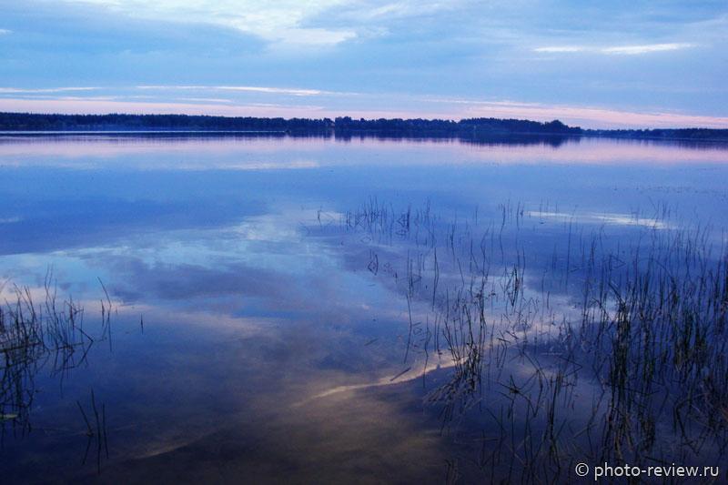 озерна на закате