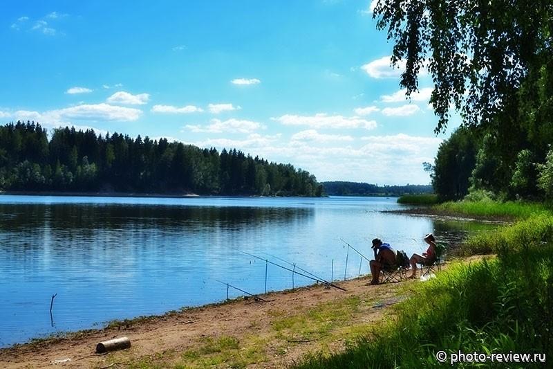 отдых с палатками на Озернинском водохранилище