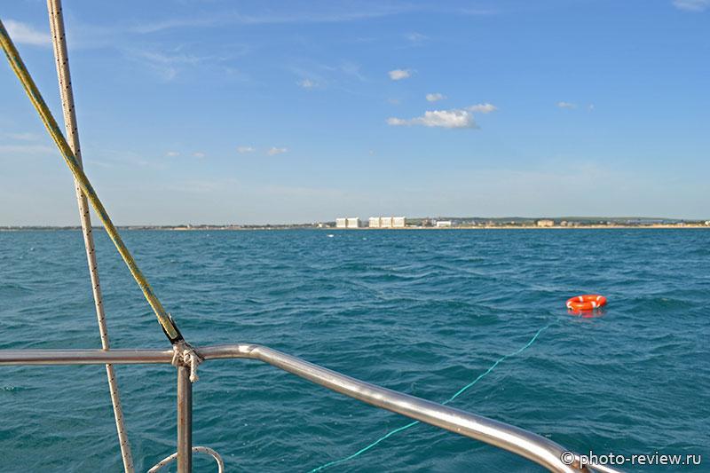 купание в открытом море с яхты