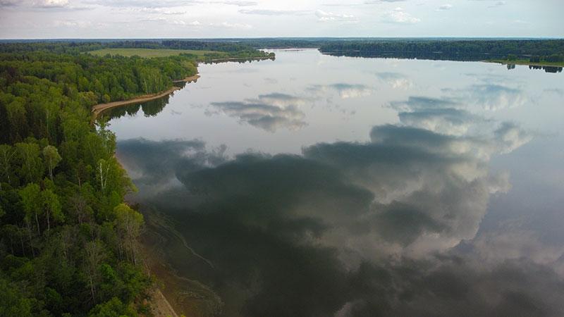 Рузское водохранилище с дрона