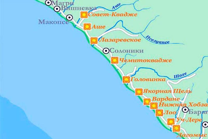Солоники на карте